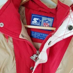 Vintage Jackets & Coats - Vintage Starter 49ers NFL Jacket Coat Size Large